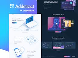 Addstract Free Web Ui Kit For Sketch Psddd Co
