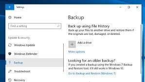backup e restauração no windows 10