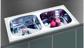 oval shaped stainless steel double bowl kitchen sink