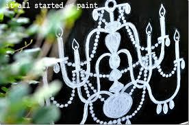 chalk art on canvas chandelier final