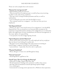 bad resume format sample of a bad resume