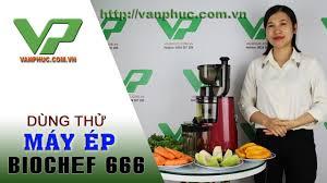 Review ép hoa quả, làm kem bằng máy ép trái cây Biochef 666 - YouTube