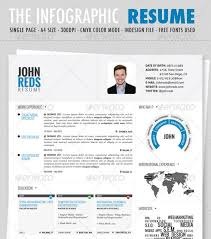 Graphic Resume Templates New Cv Infographic Template On Free Resume Templates Microsoft Word
