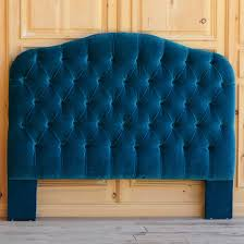 navy velvet headboard queen size tall tufted upholstered