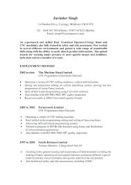 Sample Resume For Machinist Pour Resume Machinist Resumes Co