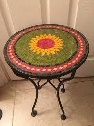 pier 1 outdoor sunflower mosaic table