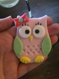 186 Best Baby Shower Cupcake Toppers Images On Pinterest  Fondant Baby Shower Owl Cake Toppers