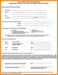 Medical Records Release Form Example Blank Medical Records Release Form Free Release24form Manager Resume 21