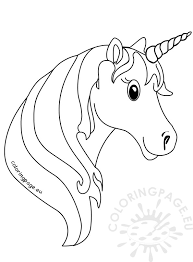 Small Picture Unicorn face coloring Pages for kids Coloring Page