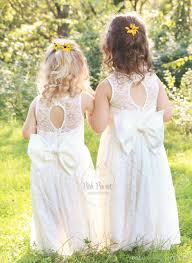 Posh Peanut Size Chart Cute Flower Girl Dresses Simple Lace With Big Bow Back 2019 Long First Communion Dresses For Little Girls Infant Toddler Country Beach Purple And