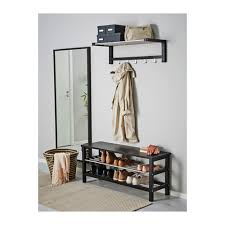 Pinnig Coat Rack Amusing TJUSIG Bench With Shoe Storage Black 100x100 Cm IKEA In Ikea 44