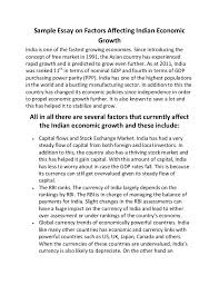 sample essay on factors affecting n economic growth sample essay on factors affecting n economic growth is one of the fastest growing economies