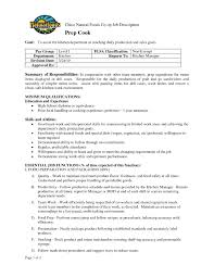 Job Description Of A Prep Cook For Resume Fascinating Prep Cook Job Description For Resume About Cooks Resume 13
