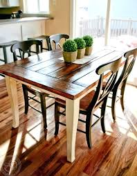 farmhouse kitchen furniture dining table with bench rustic