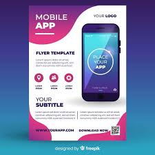 Design Flyer App Mobile App Flyer Template Free Vector Graphic Design Flyer