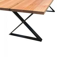 steel cross base table legs set of 2