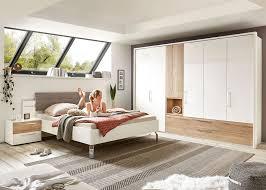 Schlafzimmer Odina Weiss Hochglanz Eiche Silea