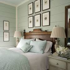 Color Scheme For Coastal Themed Bedrooms : Cozy Coastal Bedroom Idea With  Brown Wooden Bed Frame