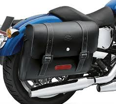 harley davidson locking leather saddlebags detachables