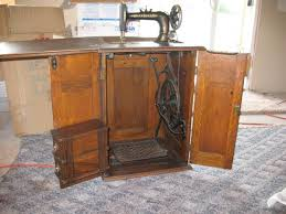 New Home Sewing Machine And Cabinet
