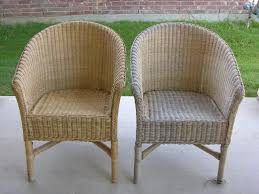 painted wicker furnitureCreative Splatter Painted Wicker Chairs
