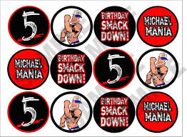 Small Picture WWE printable cupcake toppers Personalized too cute WWE