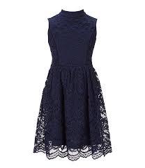 Blush By Us Angels Big Girls 7 16 Eyelash Lace Fit Flare Dress