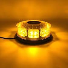 Amber 16 Led Car Truck Emergency Strobe Light Firemen Flashing Lights Car Styling Ambulance Police Flash Warning Lamp 12 24v