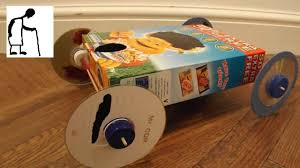 Gravity Powered Car Designs Cereal Box Rubber Band Powered Car