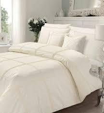 luxury pleated duvet set cream