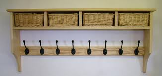 Coat Rack Uk Extraordinary Basket Shelves Shaker Peg Rails Country Shaker