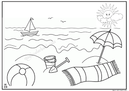 Small Picture Summer Sun Beach Coloring Pages