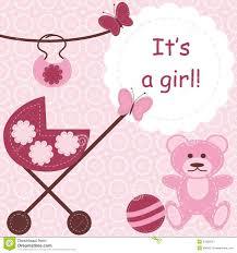 Newborn Congratulation Card Greeting Card For Newborn Girl Stock Illustration Illustration Of