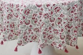 myyra multi round table cover fl design hand block printed cotton size round