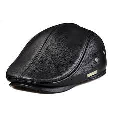 Amazon Com Lethmik Flat Cap Cabby Hat Genuine Leather Vintage
