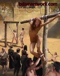 Female slave whipped unconscious bondage