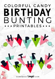 Banner Birthday Happy Birthday Sign Printable Banner Somewhat Simple