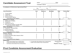 candidate assessment form sample candidate evaluation form template candidate evaluation form