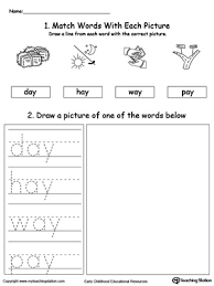 There are 80 pages of free phonics worksheets in total which can be done daily, weekly, or at any rate that suits the curriculum it's being used with. Ay Word Family Phonics And Writing Practice Myteachingstation Com