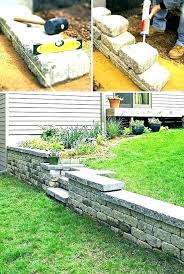 small brick retaining wall landscaping wall ideas retainer landscape retaining walls backyard brick front garden w