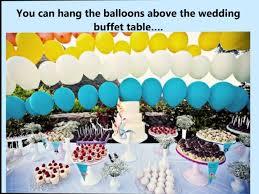 Buffet Table Decorations Ideas Wedding Buffet Ideas Using Balloons For Buffet Table Decorations