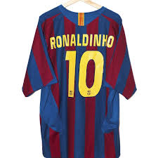 Ronaldinho - NIKE FC Barcelona 2005/2006 Home Shirt - Football Jersey