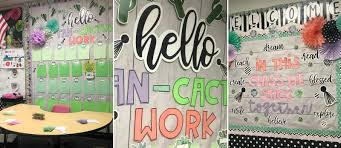 Cactus Bulletin Board And Classroom Station Fun365