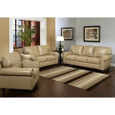 Living Room 3 Piece Sets Abbyson Living Chelsea 3 Pc Top Grain Leather Living Room Set