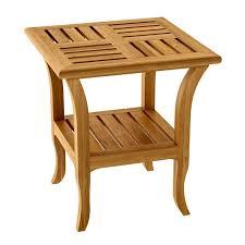 deco square teak garden side table tournesol square garden side table by astello