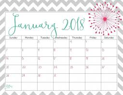 january 2018 calendar free printable january 2018 cute calendar free printable images and