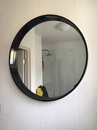 new habitat aimee black round wall mirror