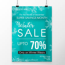 Simple Winter Sale Poster Template Template For Free Download On Pngtree