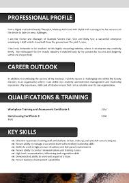 Beautician Resume Template cv for beautician Enderrealtyparkco 1