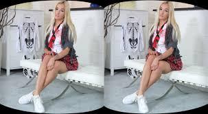 Whore of Halloween Blonde School Girl Hottie VR Porno VR Porn.